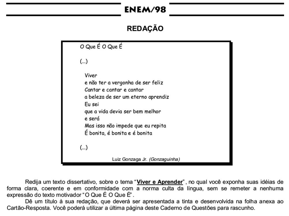 Tema-de-redação-Enem-1998