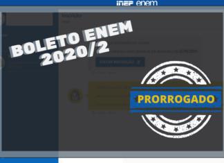 boleto enem 2020_2 PRORROGADO